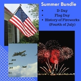 Summer Differentiated Reading Bundle-Flag Day, D--Day, Fireworks