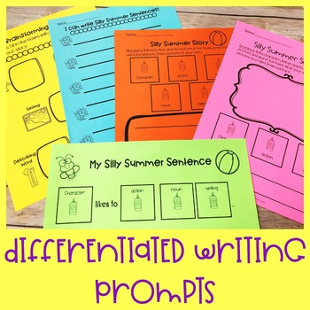 Summer Differentiated Writing Activity | Special Education and Autism Resource