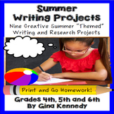 Summer Creative Writing Projects for Upper Elementary Students