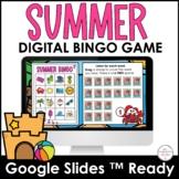 Summer Digital BINGO Game - End of the Year Vocabulary Bui