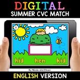 Summer Digital CVC Word Work for Google Classroom 2 - Dist