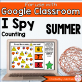 Summer Digital Counting Game for Google Classroom Distance