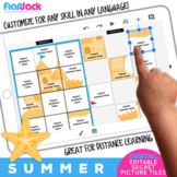 Summer Digital Editable Google Slide Secret Picture Tiles