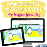 Summer Digital Mystery Picture for Division Facts to 10's