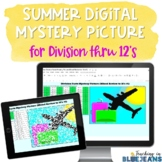 Summer Digital Mystery Picture for Division Facts to 12's