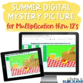 Summer Digital Mystery Picture for Multiplication Facts to