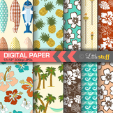 Summer Digital Paper, Hawaiian Digital Paper