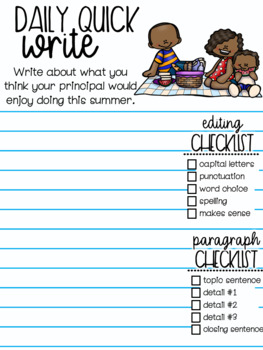 Summer Digital Quick Writes