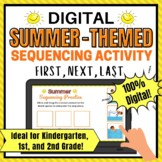 Summer Digital Sequencing Activity for 1st Grade and Kinde