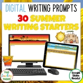 Summer Writing Prompts for Google Classroom | Quick Writes
