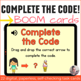 Summer Directional Coding Activities Digital Task Cards with Boom