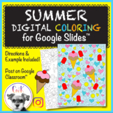 Summer Distance Learning Digital Coloring Pages for Google