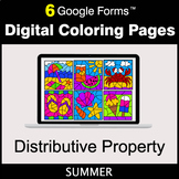 Summer: Distributive Property - Google Forms | Digital Col