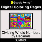 Summer: Dividing Whole Numbers by Decimals - Digital Color