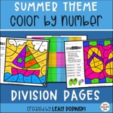 Summer || Division and Divisibility Color by Number || Dis