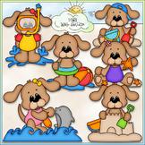 Summer Dogs Clip Art - Beach Dogs Clip Art - Summer Clip A