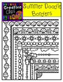Summer Doodle Borders {Creative Clips Digital Clipart}