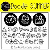 Summer Doodle FONT {Creative Clips Clipart}