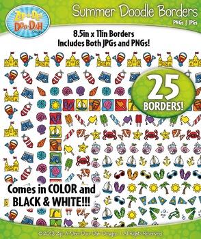 Summer Doodle Frame Borders Set  — Includes 25 Graphics!