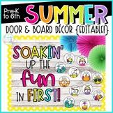 Summer Door & Board Decor {Editable!} | End of Year