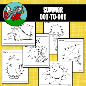 Summer Dot to Dot / Connect the Dots 1-25 and 10-250