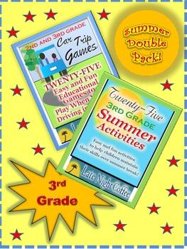Summer Double Pack: Third Grade Car Trip Activities and Summer Break Activities