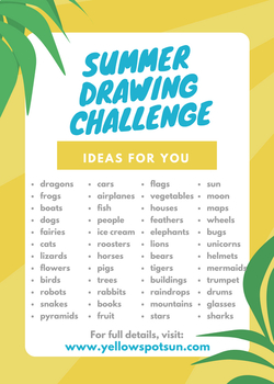 Summer Drawing Challenge: 90 Days of Drawing!