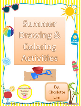 Summer Drawing and Coloring Activities