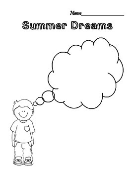 Quick Summer Dreams Graphic Organizer