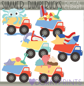 Summer Dump Trucks Clip Art