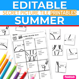Summer EDITABLE Worksheets | Secret Picture Tiles