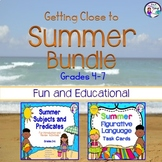 Summer Bundle Figurative Language Task Cards & Subjects an