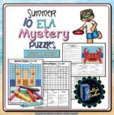 5th Grade Summer ELA Color and Code Mystery Puzzles: Fifth Grade ELA Skills