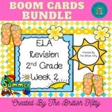 Summer ELA Review Second Grade Bundle Week 2 BOOM CARDS