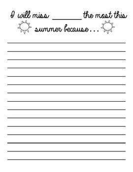 Summer/EOY Quick Writes