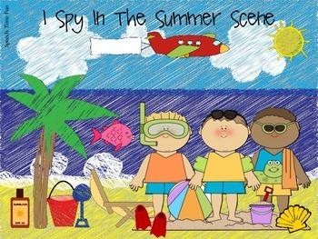 Summer Early Language File Folder Activities