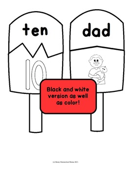 Summer Early Learning Puzzles with CVC Words! Fun Popsicle Theme