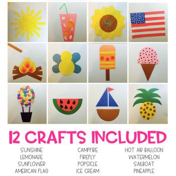 Summer Easy Art Pack: Adapted Art Activities