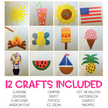 Summer Easy Art Pack Adapted Art And Writing Activities Tpt