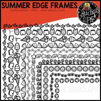 Summer Edge Frames Clipart Set {Educlips Clipart}