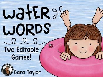 Summer Editable Math and Literacy Games