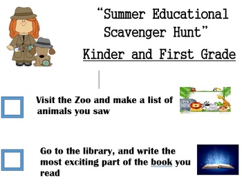 Summer Educational Scavenger Hunt Bilingual