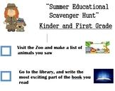 Summer Educational Scavenger Hunt Bilingual
