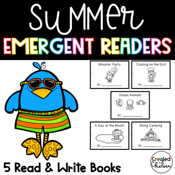 Summer Emergent Readers {Set of 5 Read and Write Books}