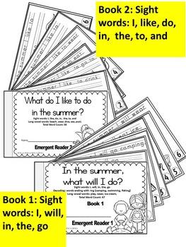 Summer-Emergent Readers- Sight Word Emergent Reader Cut & Assemble books