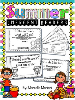 Summer-Emergent Readers- Sight Word Emergent Reader Cut &