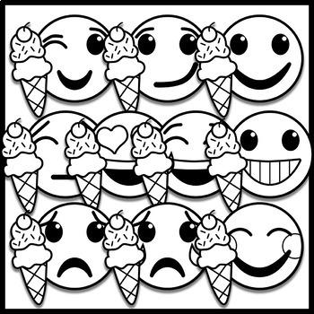 Summer Emoji Clip Art