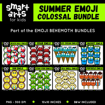 Summer Emoji Clip Arts COLOSSAL Bundle