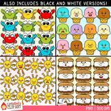 Summer Emoji Faces Clip Art Bundle
