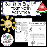 Summer - End of Year - Math Activities for Middle School and High! No Prep